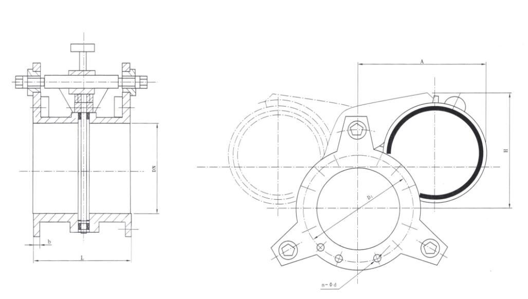 f43ax手动扇形盲板阀图片