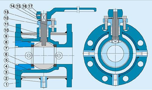 保温夹套球阀BQ41F结构示意图